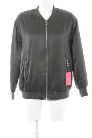 Zara Basic Blouson dunkelgrün Casual-Look
