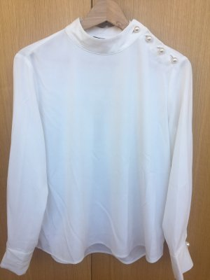 Zara Basic Long Sleeve Blouse white