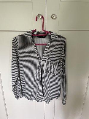 Zara Basic Bluse gestreift