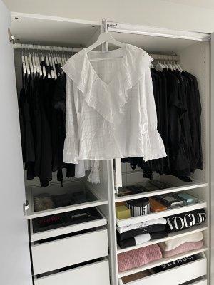 Zara Blouse avec noeuds blanc