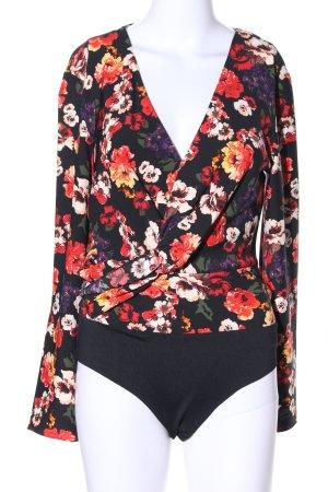 Zara Basic Blusa tipo body estampado floral look casual