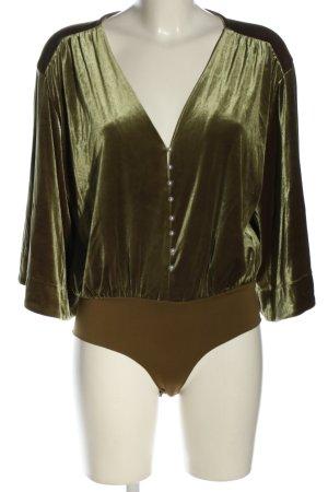Zara Basic Blusen-Body khaki Casual-Look