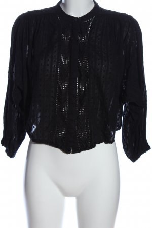 Zara Basic Blusa tipo body negro look casual