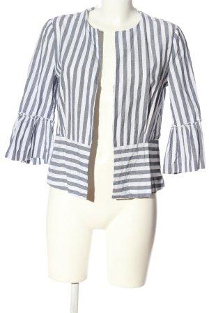 Zara Basic Veste chemisier bleu-blanc imprimé allover style décontracté