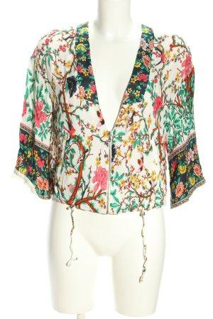 Zara Basic Blusenjacke Allover-Druck Casual-Look
