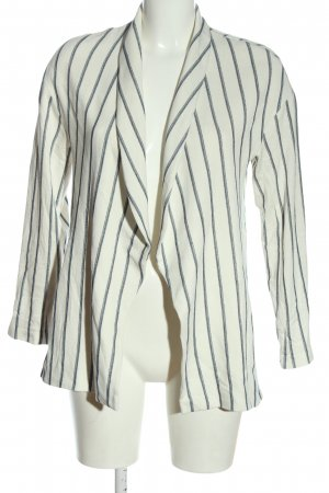 Zara Basic Blouse Jacket white-blue striped pattern business style