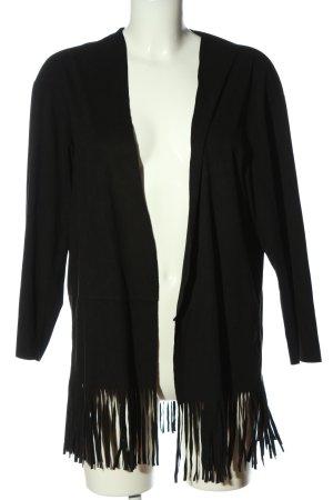 Zara Basic Giacca a blusa nero stile casual