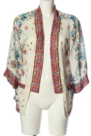 Zara Basic Blouse Jacket abstract pattern casual look