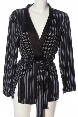 Zara Basic Blusenjacke schwarz-weiß Streifenmuster Business-Look