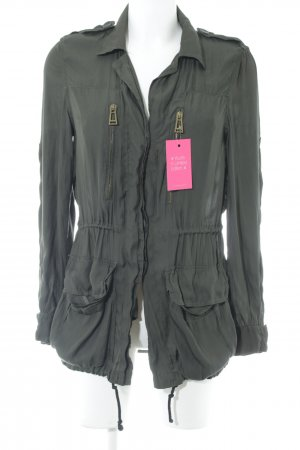 Zara Basic Blusenjacke dunkelgrün Business-Look