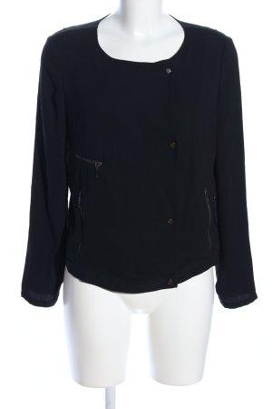 Zara Basic Blusenjacke schwarz Casual-Look