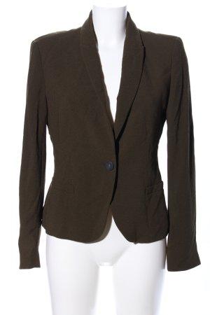 Zara Basic Blusenjacke khaki Business-Look