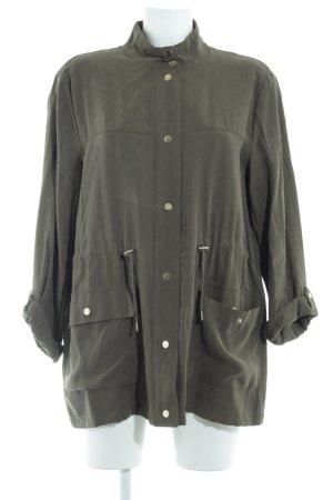Zara Basic Blusenjacke khaki Casual-Look