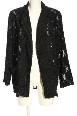 Zara Basic Blouse Jacket black flower pattern casual look