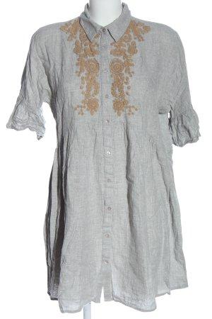 Zara Basic Blusenkleid hellgrau Casual-Look