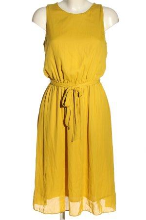 Zara Basic Blusenkleid blassgelb Casual-Look