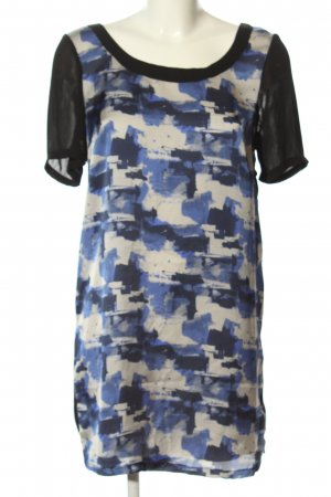 Zara Basic Blusenkleid grafisches Muster Casual-Look