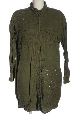 Zara Basic Blusenkleid khaki Casual-Look