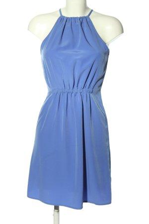 Zara Basic Blusenkleid blau Casual-Look