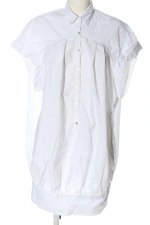 Zara Basic Blusenkleid weiß Business-Look