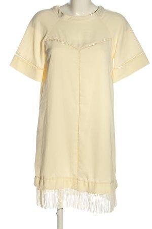 Zara Basic Blusenkleid creme Casual-Look