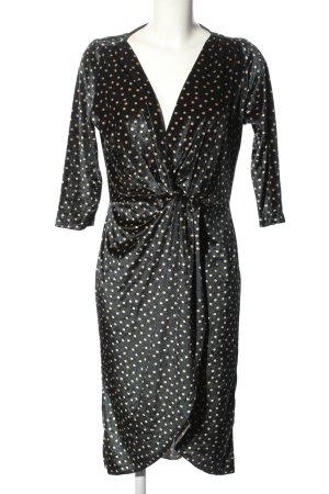Zara Basic Blusenkleid schwarz-wollweiß Punktemuster Elegant