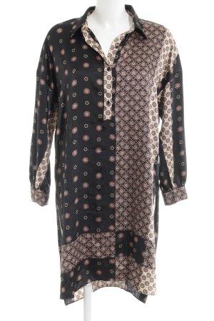Zara Basic Blusenkleid mehrfarbig Casual-Look