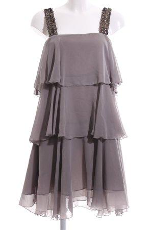 Zara Basic Blusenkleid hellgrau-bronzefarben Elegant