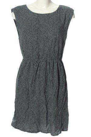 Zara Basic Blusenkleid schwarz-weiß Allover-Druck Casual-Look