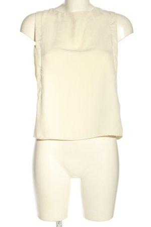 Zara Basic Blusentop wollweiß Business-Look