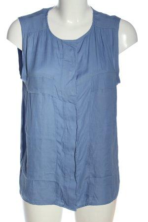 Zara Basic Blusentop blau Casual-Look