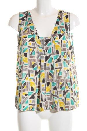 Zara Basic Blusentop abstraktes Muster Casual-Look