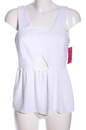 Zara Basic Blusentop weiß Casual-Look