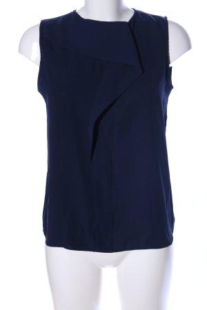 Zara Basic Blusentop blau Business-Look