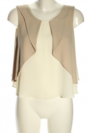 Zara Basic Blusentop wollweiß-creme Business-Look