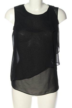 Zara Basic Blusentop schwarz Casual-Look