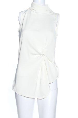 Zara Basic Blouse topje wolwit zakelijke stijl