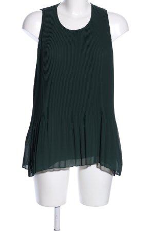 Zara Basic Blusentop grün Business-Look