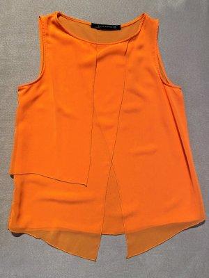 ZARA BASIC Blusentop Orange Farben Gr. M