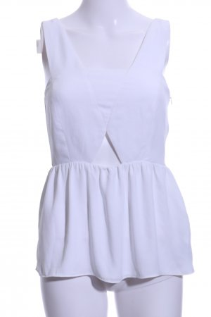 Zara Basic Blusentop weiß Elegant