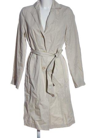 Zara Basic Abrigo largo gris claro look casual