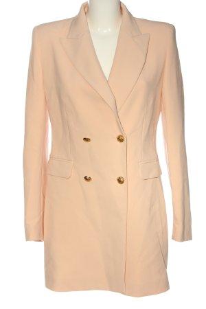 Zara Basic Długi płaszcz jasny pomarańczowy W stylu casual