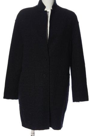 Zara Basic bodenlanger Mantel schwarz Casual-Look