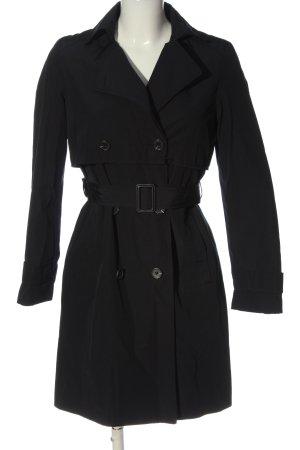 Zara Basic Długi płaszcz czarny W stylu casual