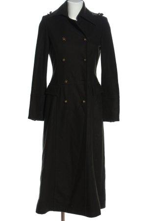 Zara Basic Cappotto lungo fino a terra nero stile casual