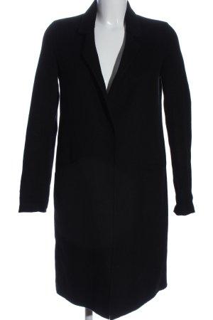 Zara Basic Jas tot aan de grond zwart casual uitstraling