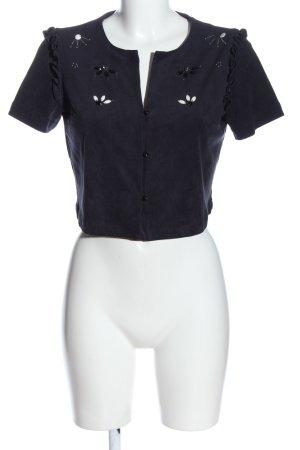 Zara Basic Cropped Shirt blue casual look