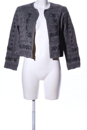 Zara Basic Torera gris claro estampado con diseño abstracto look casual