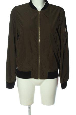 Zara Basic Bomberjacke khaki Casual-Look