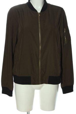 Zara Basic Giacca bomber marrone stile casual